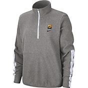 Nike Women's Iowa Hawkeyes Grey Therma Half-Zip Fleece