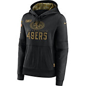 Nike Women's Salute to Service San Francisco 49ers Black Therma-FIT Pullover Hoodie