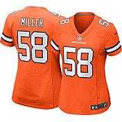 Nike Women's Denver Broncos Von Miller #58 Color Rush Orange Game Jersey