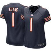 Nike Women's Chicago Bears Justin Fields #1 Navy Game Jersey