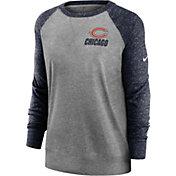 Nike Women's Chicago Bears Gym Vintage Grey Sweatshirt