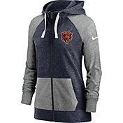 Nike Women's Chicago Bears Navy Gym Vintage Full-Zip Hoodie
