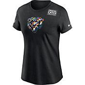 Nike Women's Chicago Bears Black Crucial Catch Logo T-Shirt