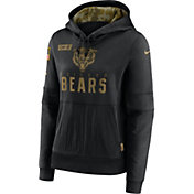 Nike Women's Salute to Service Chicago Bears Black Therma-FIT Pullover Hoodie