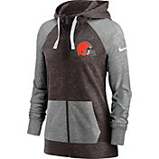 Nike Women's Cleveland Browns Brown Gym Vintage Full-Zip Hoodie