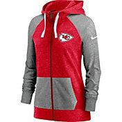 Nike Women's Kansas City Chiefs Red Gym Vintage Full-Zip Hoodie