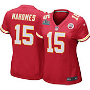 Nike Women's Super Bowl LIV Patch Kansas City Chiefs Patrick Mahomes #15 Home Game Jersey