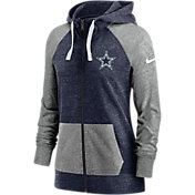 Nike Women's Dallas Cowboys Gym Vintage Navy Full-Zip Hoodie