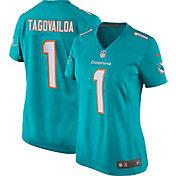 Nike Women's Miami Dolphins TuaTagovailoa #1 Home Aqua Game Jersey