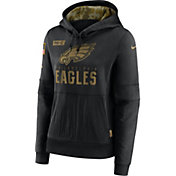 Nike Women's Salute to Service Philadelphia Eagles Black Therma-FIT Pullover Hoodie