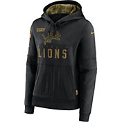Nike Women's Salute to Service Detroit Lions Black Therma-FIT Pullover Hoodie