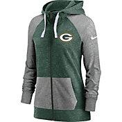 Nike Women's Green Bay Packers Green Gym Vintage Full-Zip Hoodie