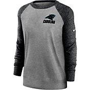 Nike Women's Carolina Panthers Gym Vintage Grey Sweatshirt