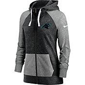 Nike Women's Carolina Panthers Gym Vintage Full-Zip Black Hoodie