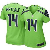 Nike Women's Seattle Seahawks D.K. Metcalf #14 Turbo Green Game Jersey