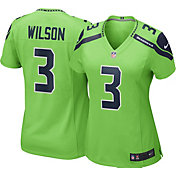 Nike Women's Seattle Seahawks Russell Wilson #3 Color Rush Green Game Jersey