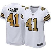 Nike Women's New Orleans Saints Alvin Kamara #41 Color Rush White Game Jersey