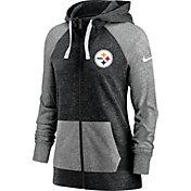 Nike Women's Pittsburgh Steelers Gym Vintage Full-Zip Black Hoodie
