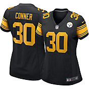 Nike Women's Pittsburgh Steelers James Conner #30 Color Rush Black Game Jersey