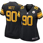 Nike Women's Pittsburgh Steelers T.J. Watt #90 Color Rush Black Game Jersey