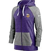 Nike Women's Minnesota Vikings Purple Gym Vintage Full-Zip Hoodie
