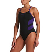 Nike Women's Color Block Racerback One Piece Swimsuit