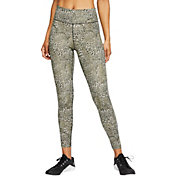 Nike Women's One Leopard Print Mid-Rise 7/8 Tights