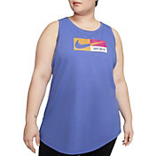Nike Women's Plus Size Icon Clash Dry Graphic Tank Top