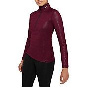 Nike Women's Pro Warm Sparkle 1/2 Zip Running Top