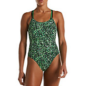 Nike Women's Hydrastrong Pixel Party Spiderback One-Piece Swimsuit