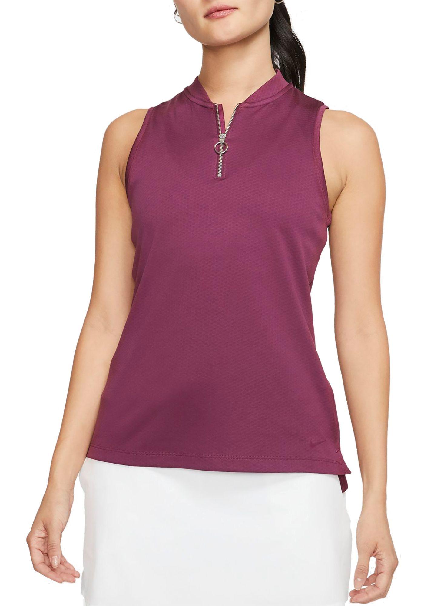 Nike Women's Dri-FIT Sleeveless Golf Polo