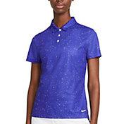 Nike Women's Dot Print Short Sleeve Golf Polo