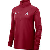 Nike Women's Alabama Crimson Tide Crimson Half-Zip Pullover Shirt