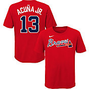 Nike Youth Atlanta Braves Ronald Acuna Jr. #13 Red T-Shirt