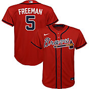 Nike Youth Replica Atlanta Braves Freddie Freeman #5 Cool Base Red Jersey