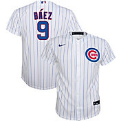 Nike Youth Replica Chicago Cubs Javier Baez #9 Cool Base White Jersey