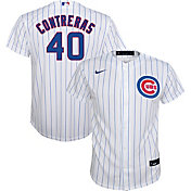 Nike Youth Replica Chicago Cubs Wilson Contreras #40 Cool Base White Jersey