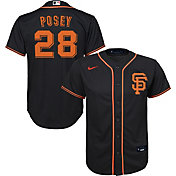 Nike Youth Replica San Francisco Giants Buster Posey #28 Cool Base Black Jersey