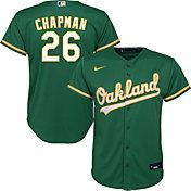 Nike Youth Replica Oakland Athletics Matt Chapman #26 Cool Base Green Jersey