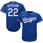 Nike Youth Replica Los Angeles Dodgers Clayton Kershaw #22 Cool Base Royal Jersey