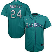 Nike Youth Replica Seattle Mariners Ken Griffey Jr. #24 Cool Base Green Jersey