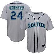 Nike Youth Replica Seattle Mariners Ken Griffey Jr. #24 Cool Base Grey Jersey