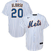Nike Youth Replica New York Mets Pete Alonso #20 Cool Base White Jersey