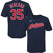 Nike Youth Cleveland Indians Oscar Mercado #35 Navy T-Shirt