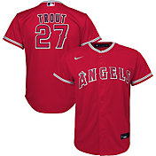 Nike Youth Replica Los Angeles Angels Mike Trout #27 Cool Base Red Jersey