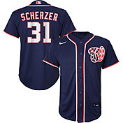 Nike Youth Replica Washington Nationals Max Scherzer #31 Cool Base Navy Jersey