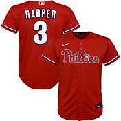 Nike Youth Replica Philadelphia Phillies Bryce Harper #3 Cool Base Red Jersey