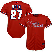 Nike Youth Replica Philadelphia Phillies Aaron Nola #27 Cool Base Red Jersey