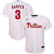 Nike Youth Replica Philadelphia Phillies Bryce Harper #3 Cool Base White Jersey