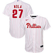 Nike Youth Replica Philadelphia Phillies Aaron Nola #27 Cool Base White Jersey